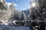 USA,California,Yosemite National Park. Fresh snow fall on the Merced River in Yosemite Valley. Stock Photo - Premium Rights-Managed, Artist: AWL Images, Code: 862-03437438