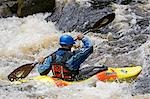 Wales,Gwynedd,Bala. White water kayaking on the Tryweryn River at the National Whitewater Centre Stock Photo - Premium Rights-Managed, Artist: AWL Images, Code: 862-03437831
