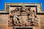 Wales; Powys; Welshpool. The Herbert coat of arms above the archway leading to the castle entrance at Powis Castle Stock Photo - Premium Rights-Managed, Artist: AWL Images, Code: 862-03437889