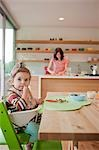 Mother and Daughter in Kitchen Stock Photo - Premium Rights-Managed, Artist: Ty Milford, Code: 700-03439489