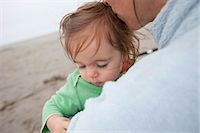 Mother and Daughter on the Beach, Near Seaside, Oregon, USA Stock Photo - Premium Rights-Managednull, Code: 700-03439507