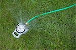 Close-up of Water Sprinkler on Grass Stock Photo - Premium Rights-Managed, Artist: Ty Milford, Code: 700-03439517