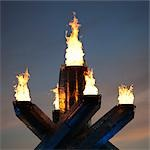 Vancouver 2010 Olympic Cauldron, Vancouver, British Columbia, Canada Stock Photo - Premium Rights-Managed, Artist: Ed Gifford, Code: 700-03439563
