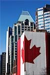 Canadian Flag on Side of Building, Vancouver, British Columbia, Canada Stock Photo - Premium Rights-Managed, Artist: Ed Gifford, Code: 700-03439568