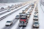 Bumper to Bumper Traffic on Highway 401 in Winter, Ontario, Canada Stock Photo - Premium Rights-Managed, Artist: Rommel, Code: 700-03439999