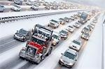 Bumper to Bumper Traffic on Highway 401 in Winter, Ontario, Canada Stock Photo - Premium Rights-Managed, Artist: Rommel, Code: 700-03440000