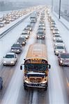 Bumper to Bumper Traffic on Highway 401 in Winter, Ontario, Canada Stock Photo - Premium Rights-Managed, Artist: Rommel, Code: 700-03440001
