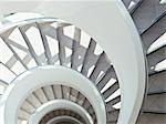 Directly above modern, spiral staircase Stock Photo - Premium Royalty-Free, Artist: R. Ian Lloyd             , Code: 635-03441153