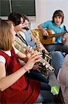 Students in Music Class Stock Photo - Premium Rights-Managed, Artist: Uwe Umstätter, Code: 700-03445122