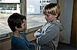 Two Students Glaring at Each Other Stock Photo - Premium Rights-Managed, Artist: Uwe Umstätter, Code: 700-03445136