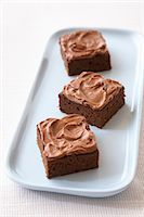 rectangle - Plate with Brownies Stock Photo - Premium Royalty-Freenull, Code: 600-03445417