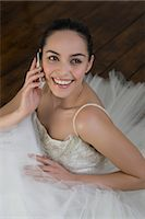 special moment - Bride Talking on Cell Phone Stock Photo - Premium Royalty-Freenull, Code: 600-03445547