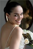 special moment - Portrait of Bride Stock Photo - Premium Royalty-Freenull, Code: 600-03445548