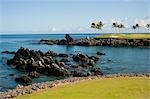Golf Course, Kona, The Big Island, Hawaii, USA Stock Photo - Premium Rights-Managed, Artist: Mark Downey, Code: 700-03445651