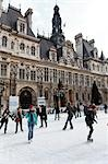 Skating, Hotel de Ville, 4th Arrondissement, Paris, Ile-de-France, France Stock Photo - Premium Rights-Managed, Artist: Mike Randolph, Code: 700-03445904