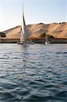 Felucca on Sailing on Nile River, Aswan, Egypt Stock Photo - Premium Rights-Managed, Artist: Mark Downey, Code: 700-03445978