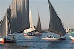 Felucca Sailing on Nile River, Aswan, Egypt Stock Photo - Premium Rights-Managed, Artist: Mark Downey, Code: 700-03445979
