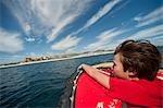 Boy on Boat, Baja, Mexico