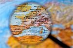 Magnifying Glass Magnifying France on Globe Stock Photo - Premium Rights-Managed, Artist: Jean-Christophe Riou, Code: 700-03446043