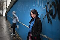 sad lovers break up - Teenagers Hanging Out by Graffiti Wall Stock Photo - Premium Rights-Managednull, Code: 700-03446052