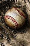 Baseball and Baseball Glove Stock Photo - Premium Rights-Managed, Artist: David Muir, Code: 700-03446205