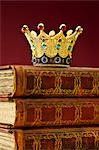 Crown on Books Stock Photo - Premium Rights-Managed, Artist: David Muir, Code: 700-03446211