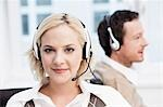 Female call center agent portrait Stock Photo - Premium Royalty-Freenull, Code: 649-03447483