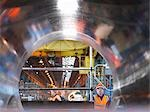 Engineers And Tunnel Of Forged Steel Stock Photo - Premium Royalty-Free, Artist: Blend Images, Code: 649-03448420