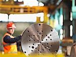 Engineer Working With Steel Part Stock Photo - Premium Royalty-Free, Artist: Blend Images, Code: 649-03448433