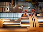 Engineers Inspecting Steel Rollers Stock Photo - Premium Royalty-Free, Artist: Science Faction, Code: 649-03448439