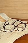 Still Life of Newspaper and Eyeglasses Stock Photo - Premium Rights-Managed, Artist: Ursula Klawitter, Code: 700-03450828