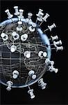 Globe with Push Pins Stock Photo - Premium Rights-Managed, Artist: David Muir, Code: 700-03450897