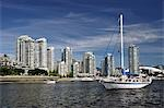 Downtown Vancouver and False Creek, British Columbia, Canada Stock Photo - Premium Rights-Managed, Artist: Jochen Schlenker, Code: 700-03451143