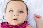 Baby Girl Lying on Blanket Stock Photo - Premium Rights-Managed, Artist: John Ferrentino, Code: 700-03451278