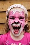 Little Girl With Painted Face Stock Photo - Premium Rights-Managed, Artist: Michael Clement, Code: 700-03451607