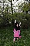 Child Wearing a Cow Costume in the Forest Stock Photo - Premium Rights-Managed, Artist: Michael Clement, Code: 700-03451608