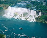 Aerial view of the American Falls, Niagara Falls, New York State, USA, North America Stock Photo - Premium Rights-Managednull, Code: 841-03454249