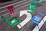 Garden chairs for pedestrians in Times Square, Midtown, Manhattan, New York City, New York, United States of America, North America Stock Photo - Premium Rights-Managed, Artist: Robert Harding Images, Code: 841-03454391
