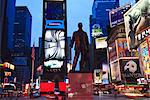 Statue of George M. Cohan, composer of Give My Regards to Broadway, Times Square at dusk, Manhattan, New York City, New York, United States of America, North America
