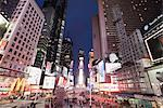 Times Square at dusk, Midtown, Manhattan, New York City, New York, United States of America, North America