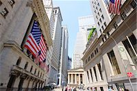 stock exchange building - The New York Stock Exchange, Broad Street, Wall Street, Manhattan, New York City, New York, United States of America, North America Stock Photo - Premium Rights-Managednull, Code: 841-03454482