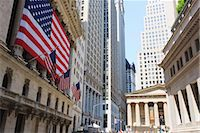 stock exchange building - The New York Stock Exchange, Broad Street, Wall Street, Manhattan, New York City, New York, United States of America, North America Stock Photo - Premium Rights-Managednull, Code: 841-03454483