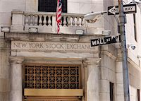 stock exchange building - The New York Stock Exchange, Wall Street, Manhattan, New York City, New York, United States of America, North America Stock Photo - Premium Rights-Managednull, Code: 841-03454485