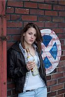 Teenage Girl Drinking Alcohol Stock Photo - Premium Rights-Managednull, Code: 700-03454509