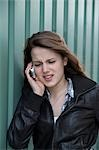 Teenage Girl Talking on Cell Phone Stock Photo - Premium Rights-Managed, Artist: KL Services, Code: 700-03454513