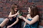 Teenage Girls Drinking Alcohol Stock Photo - Premium Rights-Managed, Artist: KL Services, Code: 700-03454520