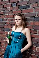 Teenage Girl Drinking Alcohol Stock Photo - Premium Rights-Managednull, Code: 700-03454522