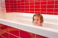Girl in Bathtub Stock Photo - Premium Rights-Managednull, Code: 700-03455593