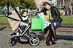 Tired Mother in Park with Son in Stroller Stock Photo - Premium Rights-Managed, Artist: KL Services, Code: 700-03456189