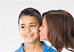 Girl and Boy Kissing Stock Photo - Premium Royalty-Free, Artist: KL Services, Code: 600-03456256